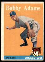 1958 Topps Set Filler Bobby Adams Chicago Cubs #99