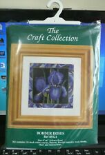 """The Craft Collection Tapestry Kit 'Border Irises' 6"""" x 6"""" Opened but Not Started"""