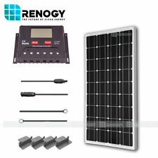 Renogy 100W Watts 12V Monocrystalline Solar Panel Off Grid Kit for RV Boat