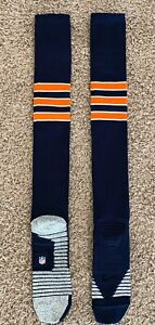 Nike Grip Blue Chicago Bears NFL Team Player Issued Football Game Socks 2XL T