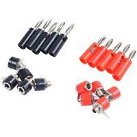 4mm 10pcs Banana Plugs and 10pcs Banana Sockets (Black and Red) Jack X8H4