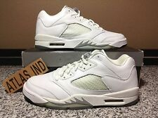 AIR JORDAN 5 RETRO LOW White Metallic Silver Nike V 1 3 4 6 7 11 Supreme 2006 10
