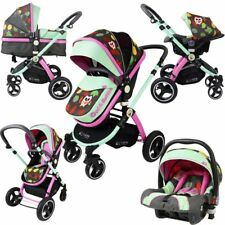 iSafe System Owl Button Trio Travel System Pram Luxury Stroller 3 in 1 Com