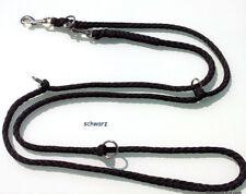 Hundeleine 2,80m, 4x verstellbar, Doppelleine, schwarz Umhängeleine ☆☆☆☆☆
