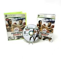 Fight Night Round 4 (Microsoft Xbox 360, 2009) CIB Complete w/ Manual Tested