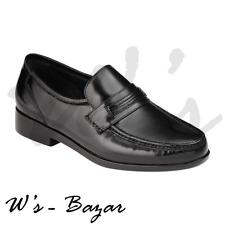 Covington Men's Drew Cushoned Leather Black Sleek Comfortable Dress Loafer