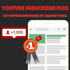 1000 TUBE Promotion Subscribers / Cheapest on market! MONEY BACK GUARANTEE!