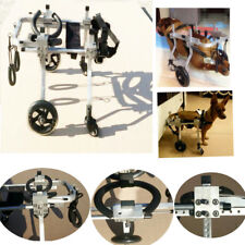 """8''-10"""" Height 4 Wheels Cart Pet Wheelchair for Handicapped Dog Cat Doggie  ♪"""