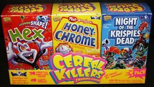 CEREAL KILLERS 1ST SERIES LIKE WACKY PACKAGES 3 BOX SET