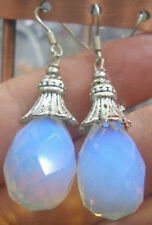 Faceted Sri Lanka Moonstone Earring Silver Hook AAA+