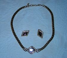 Christian Dior Fashion Necklace with Matching Earrings.