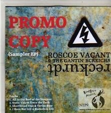 (CC124) Roscoe Vacant & The Gantin' Screichs, Reckurdt sampler - 2011 DJ CD