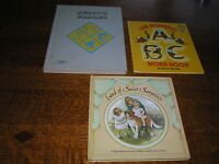Lot of 3 Vintage or Repro AESOP'S FABLES Nister Revolving Picture Book ABC