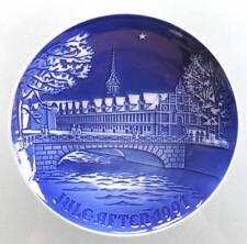 "1991 B&G Christmas Plate ""The Copenhagen Stock Exchange"" Bing & Grondahl bridge"