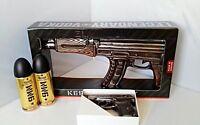 """Vodka Kalashnikov  AK 47 und Pistole Wodka """"PM """" mit 9MM Energy Drink"""