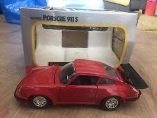 1/24 BURAGO CLASSIC - RED PORSCHE 911 S - DIECAST MODEL CAR - BOXED
