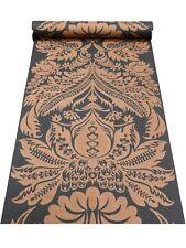 Rasch Black Bronze Copper Floral Damask Non Woven Wallpaper 515220