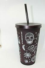 Starbucks Halloween 16 Ounces Skull Tumbler