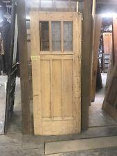 """Vintage Arts And Craft Door. 33.5"""" X 83"""" Oak 3 Lite Entry Door Pantry Door"""