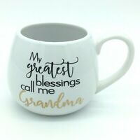 My Greatest Blessings Call Me GRANDMA Coffee Mug Oversize Gold 17 oz