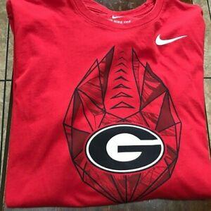 NWOT Georgia Bulldogs L/S  Nike t-shirt size L red DriFit