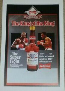 Marvin Hagler Boxing Fight Poster - 1987 Sugar Ray Leonard - Marvelous