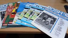 EIGHT Peterborough United Programmes (1974-1994)