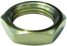 LNM10NP Brass Nickel Plated Lock Nut Fitting Metric Female M10x1.0