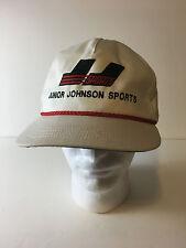 Vintage JJ Sports Junior Johnson Nascar RAcing Snap Back Hat One Size Fits Most
