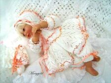 KNITTING PATTERN TO MAKE FOR BABY/REBORN GIRL  0-3 MONTHS (Marigold)