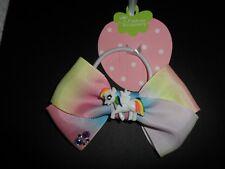 UNICORN/ girls Large 4.5 inch hair bow/head bow bobbles/ponio princess,sparkle..