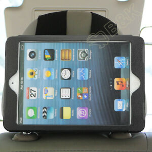 Car Headrest Holder Mount For iPad Mini 1 2 3 4 Protect Case Leather Adjustable