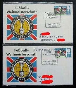 Großbritannien Briefe SST Fußball-Weltmeisterschaft WM 1966 SST Birmingham