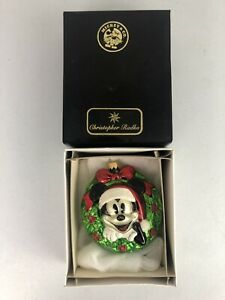 Christopher Radko 1998 Disney Mickey Mouse Wreath Ornament