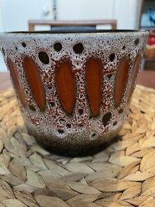 west german pottery Pot Plant Holder Vintage Retro Vase Home Garden