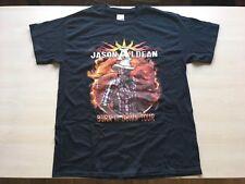 Jason Aldean Black Men's Large  T-Shirt Burn It Down Tour 2014 Double Sided