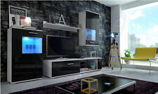 Living room furniture set TV stand cabinet unit cupboard wall mounted high gloss
