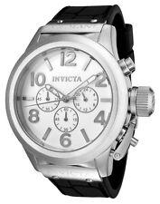 New Mens Invicta 1139 Corduba Chronograph White Dial Black Strap Watch