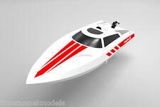 Volantex Vector 28 blanc mini racing Boat-prêt à courir avec chargeur et batterie