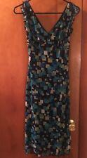 Women's BLUE Multi Color  LA BELLE  DRESS SIZE S