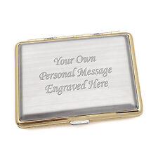 Gold Collectable Cigarette Cases