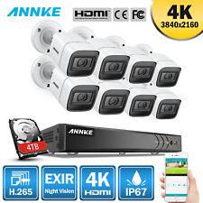 Annke 8Mp 4K Video Security Camera 8Ch Dvr Ip67 H.265+ Surveillance System Ultra