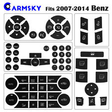 5-Model Benz Button Sticker Set For 2007-2014 Mercedes C250 C300 C350 W204 Decal