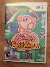 Kirby's Epic Yarn (Nintendo Wii, 2010) Complete NG2