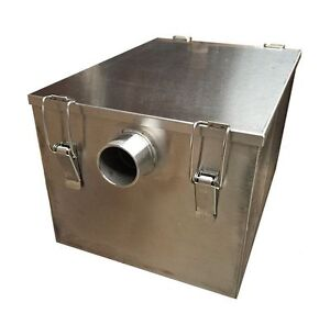 Stainless Steel Grease Interceptor Trap Domestic Small Restaurant Kitchen Water
