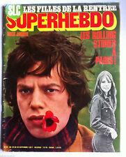 SUPERHEBDO N°25 du 24/09/1970; Les Stones/ Gelin/ Jobert/ Visconti/ Moustaki