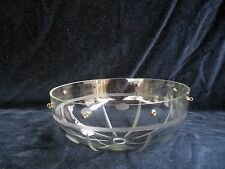 """**** VINTAGE EUROPEAN 5 7/8"""" CRYSTAL GLASS BOBECHE 8 PIN HOLE CANOPY # 1 *****"""