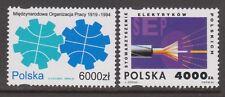 Poland Stamps. Sc.# 3200 75th Anniv. of Ilo. 3201 Polish Electricians. Mnh