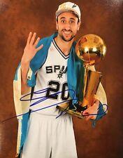 EXACT PROOF! MANU GINOBILI Signed Autographed 8x10 Photo San Antonio Spurs