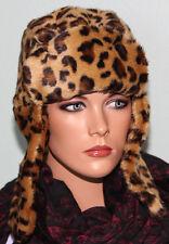 NWT Nine West Faux Fur Trooper Winter Hat Leopard Animal Print $46